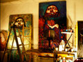 George Yepes' 740 South Olive Street Studio, Downtown Los Angeles, California  USA
