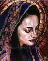 "Corona de Espinas ©2000, Acrylic on Canvas, Dimensions 24"" w x 30"" h, Private Collection"