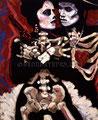 """La Pistola y El Corazon ©1989, Acrylic on Canvas, Dimensions 24"""" w x 30"""" h, Sean Penn & Madonna Collection, Los Lobos Album Cover"""