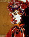 """La Catrina II ©2008, Acrylic on Canvas, Dimensions 18"""" w x 24"""" h, Private Collection"""