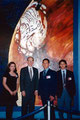 "Academia de Arte Yepes Project Managers at the mural dedication • Mars ""Global Surveyor"" Mural for NASA • at Cape Canaveral, FL  USA"