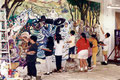 "Academia de Arte Yepes students painting the ""Boyle Heights Señor Center"" Mural • Los Angeles, CA  USA"