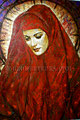 "Scarlet Madonna ©2006, Acrylic on Canvas, Dimensions 36"" w x 54"" h, Walter Ulloa Collection"