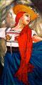 """La Michoacana ©2005, Acrylic on Canvas, Dimensions 36"""" w x 72"""" h, Private Collection"""
