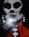 "Dia de Los Muertos Series ©1988, Acrylic on Canvas, Dimensions 24"" w x 30"" h, Private Collection"