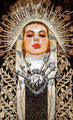 """Sor Juana ©2010, Acrylic on Canvas, Dimensions 36"""" w x 60"""" h, Private Collection"""