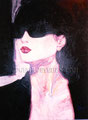 """Shades (Gafas) ©1989, Acrylic on Canvas, Dimensions 36"""" w x 48"""" h, Private Collection"""