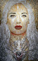"White Madonna: Portrait of Salma Hayek ©2006, Acrylic on Canvas, Dimensions 60"" w x 96"" h, Robert Rodriguez Collection"