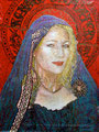"Renate Madonna ©2006, Acrylic on Canvas, Dimensions 36"" w x 48"" h, Private Collection"