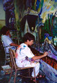 "Academia de Arte Yepes students painting the ""City Terrace Elementary School"" Mural • Los Angeles, CA  USA"