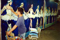 "Academia de Arte Yepes students painting the ""Performing Arts Center Mural • Los Angeles, CA  USA"