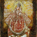 "Madonna Retablo IV ©2011, Acrylic on Wood, Dimensions 22"" w x 22"" h, Private Collection"