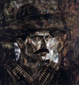 "Zapata: Portrait of Alejandro Fernandez ©2004, Acrylic on Canvas, Dimensions 47 1/2"" w x 70 1/2"" h, Private Collection"