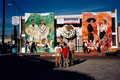 "Academia de Arte Yepes students painting the ""Mariachi Plaza"" Murals • Los Angeles, CA  USA"