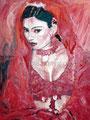 """La Otra ©1989, Acrylic on Canvas, Dimensions 36"""" w x 48"""" h, Private Collection"""