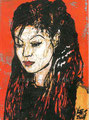 """Bling Bling ©2003, Acrylic on Canvas, Dimensions 5"""" w x 7"""" h, Private Collection"""