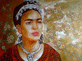 """Autumn Frida I ©2011, Acrylic on Canvas, Dimensions 40"""" w x 30"""" h, Private Collection"""