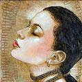 "Eva: Portrait of Eva Longoria ©2011, Acrylic on Canvas, Dimensions 12"" w x 12"" h"