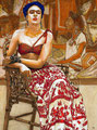 "Frida de Tlatelolco ©2011, Acrylic on Canvas, Dimensions 36"" w x 48"" h, Private Collection"