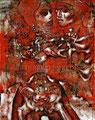 "La Pistola y El Corazon: 20th Anniversary ©2008, Acrylic on Canvas, Dimensions 21"" w x 26"" h, Private Collection"