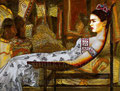 """Frida in Repose ©2010, Acrylic on Canvas, Dimensions 48"""" w x 36"""" h, Private Collection"""