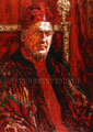 "Cardinal des Anges: Portrait of Patrick Bauchau ©2000, Acrylic on Canvas, Dimensions 36"" w x 48"" h, Private Collection"
