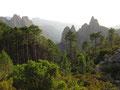 Letzte Etappe - Früher Morgen beim Abstieg nach Conca