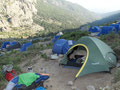 Refuge de Asinao - unser Zelt im Wald der Mietzelte