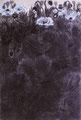 「芥子Ⅱ(Poppies)」1995年/40号/アクリル、墨 麻キャンバス