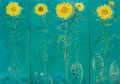「Sunflower」1993年/1530×2190/アクリル 麻キャンバス