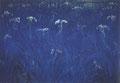 「Iris-Yellow」1989年/100F/アクリル 麻キャンバス