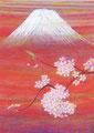 「桜富士」2000年/30号/日本画