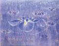 「Iris」1993年/100F/アクリル 麻キャンバス