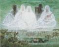 「天遊の調べ」1986年/150号/日本画 第71回日本美術院展出品