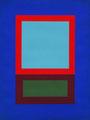 Im Quadrat n°12, 2016, Vinyl auf Bütten, 30 x 40 cm klein