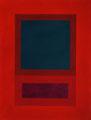 Im Quadrat n°15, 2016, Vinyl auf Karton, 30 x 40 cm