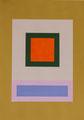 Im Quadrat, 2017_02, 4 von 4, Vinyl und Acryl auf Karton,25 x 35 cm