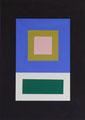 Im Quadrat, 2017_02, 2 von 4, Vinyl und Acryl auf Karton,25 x 35 cm