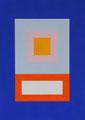 Im Quadrat, 2017_02, 3 von 4, Vinyl und Acryl auf Karton,25 x 35 cm