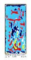 """""""Veränderungen und Verbindungen der Viren"""" 1/1 B / Werkverzeichnis 2.352 / datiert 12/99 / veränderte PC-Zeichnung als Tintenstrahldruck auf Papier / Maße b 21,0 cm * h 29,7 cm"""
