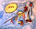 """""""o. T."""" Werkverzeichnis 1.848 Datiert 1999 Aquarell, Tusche und Kohle auf Leinwand Maße b 100,0 cm * h 80,0 cm"""