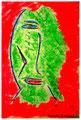 """""""Harlekin """"Alex IV"""" Isny, 10.11.1991 Werkverzeichnis 207 Kreide und Kohle auf Papier b 31,8 cm * h 47,0 cm Hochwassergeschädigt 1997 Bild 4 einer Serie von 6 Bildern"""