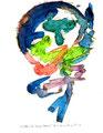 """""""Die Träume des Caspar Hauser"""" 5 / Werkverzeichnis 1.294 / datiert 23.02.97 / Filzstift und Aquarell auf Papier / Maße b 24,0 cm * h 30,0 cm"""