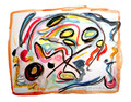 """""""Lassy I"""" 17.12.1994, Werkverzeichnis 442, Aquarell, Bleistift und Graphit auf Papier, b 40,0 cm * h 30,0 cm"""