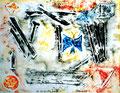 """""""Linoldruck o. T. - Bild 7 aus der Siebener-Serie -"""" Gestringen, den 02.02.1992, Werkverzeichnis 280, Druck auf Japanpapier, b 40,0 cm * 30,0 cm"""