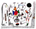 """Ansprache des Bundeskanzlers """" Dem deutschen Volke"""" Gestr. 31.12.1993, Werkverzeichnis 393, Textilfarbe auf Aquarellpapier, b 50,0 cm * h 40,0 cm"""