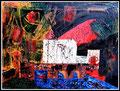 """""""Kitschig abstrakter Herbstwald"""" Gestringen, 08.05.1986, Werkverzeichnis 40, Ölfarbe auf Leinwand, b 40,0 cm x h 30,0 cm"""