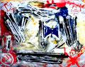 """""""Linoldruck o. T. - Bild 6 aus der Siebener-Serie -"""" Gestringen, den 02.02.1992, Werkverzeichnis 279, Druck auf Japanpapier, b 40,0 cm * 30,0 cm"""