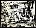 """""""Linoldruck o. T. - Bild 1 aus der Siebener-Serie -"""" Gestringen, den 02.02.1992, Werkverzeichnis 274, Druck auf Japanpapier, b 40,0 cm * 30,0 cm"""
