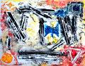 """""""Linoldruck o. T. - Bild 4 aus der Siebener-Serie -"""" Gestringen, den 02.02.1992, Werkverzeichnis 277, Druck auf Papier, b 40,0 cm * 30,0 cm"""